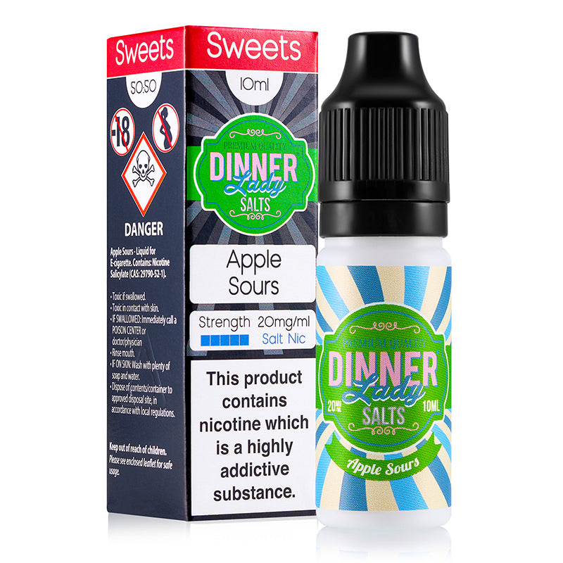 Apple Sours Nicotine Salt E-Liquid By Dinner Lady Salts
