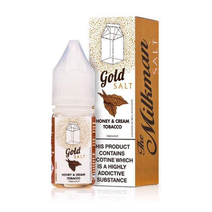 Gold Nicotine Salt E-Liquid by The Milkman Salt