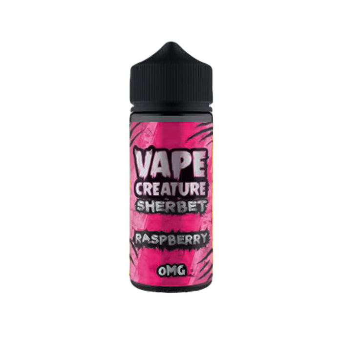 Raspberry 100ml E-Liquid Shortfills by Vape Creature Sherbet