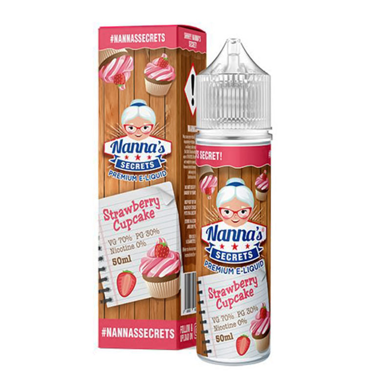 Strawberry Cupcake E-Liquid Shortfill by Nanna's Secrets Original Series