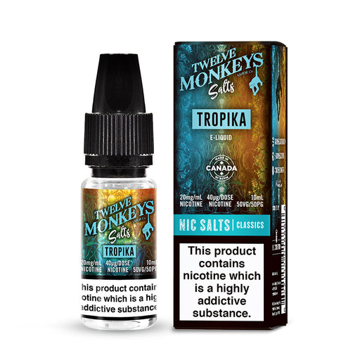 Tropika Nicotine Salt E-Liquid by Twelve Monkeys Salts