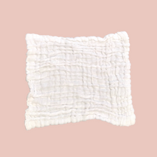 Load image into Gallery viewer, White - Organic Cotton Muslin 6-layer Washcloth