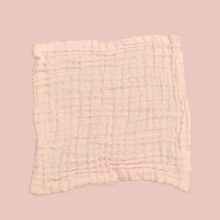 Load image into Gallery viewer, Pink - Organic Cotton Muslin 6-layer Washcloth