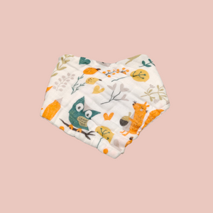 Autumn Bandana Bib – 8 Layer Organic Cotton Muslin