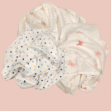 Load image into Gallery viewer, Set of 3 - Organic Muslin Swaddles - Original Range