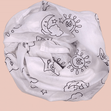 Load image into Gallery viewer, Black and White Assorted - Ultra Sheer Organic Cotton Swaddle Sheet