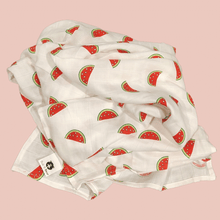 Load image into Gallery viewer, Watermelon - Organic Cotton Muslin Swaddle Sheet