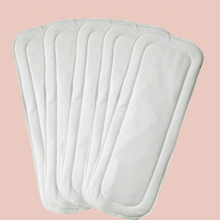 Load image into Gallery viewer, Reusable Diaper Insert - White 4-layer Microfiber
