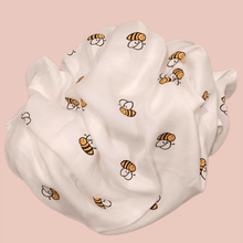 Load image into Gallery viewer, Bumblebee - Organic Cotton Muslin Swaddle Sheet