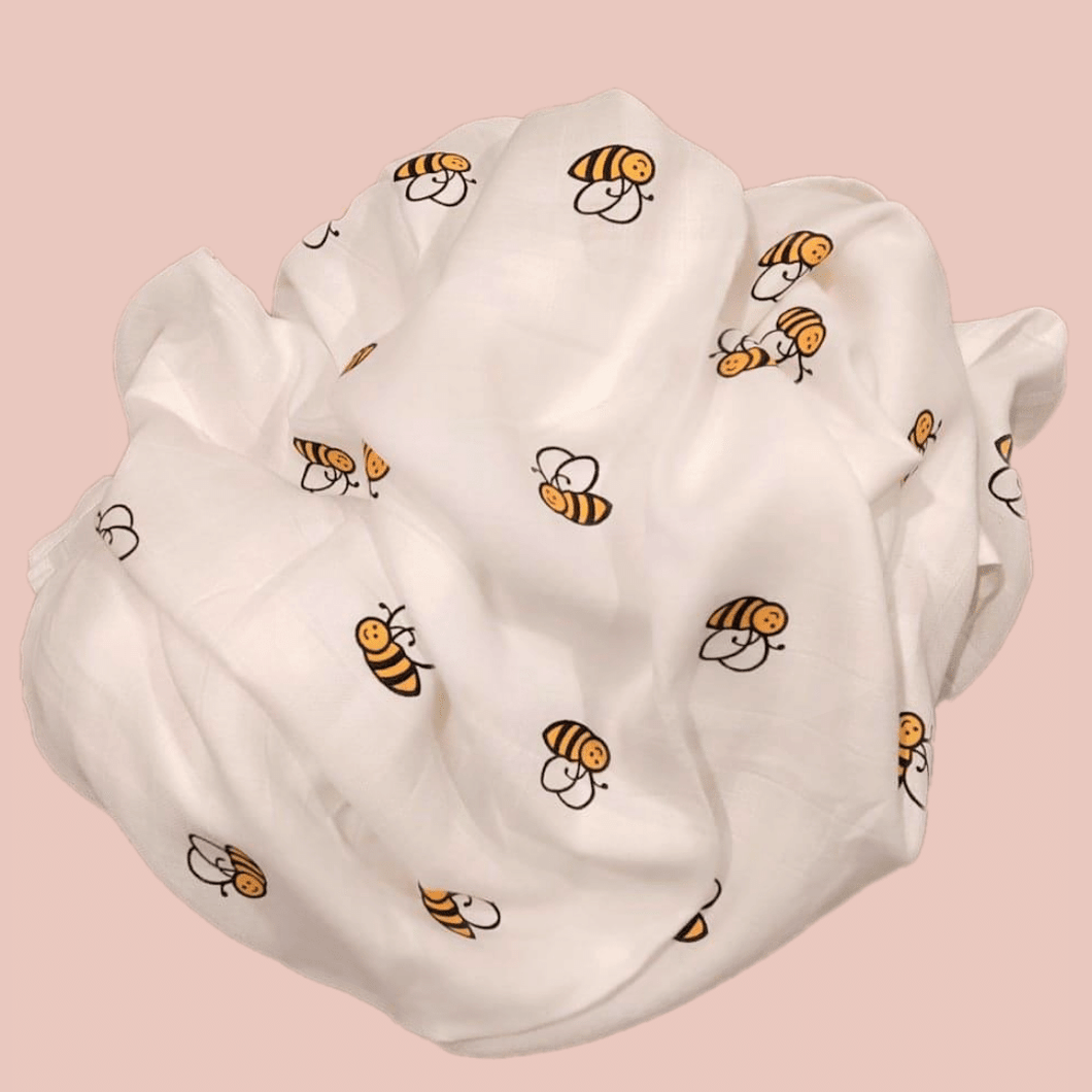 Bumblebee - Organic Cotton Muslin Swaddle Sheet