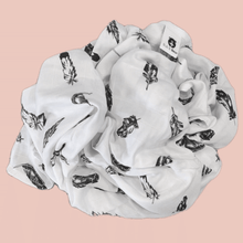 Load image into Gallery viewer, Feather - Organic Cotton Muslin Swaddle Sheet