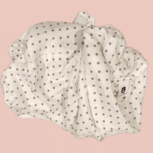 Load image into Gallery viewer, Grey Polka - Organic Cotton Muslin Swaddle Sheet