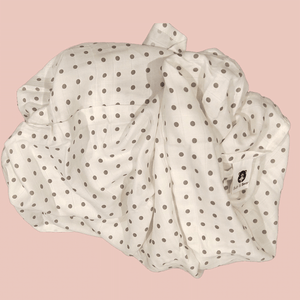 Grey Polka - Organic Cotton Muslin Swaddle Sheet