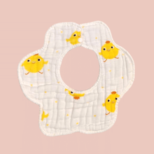 Load image into Gallery viewer, Chicky Round Bib - 8 Layer Double Sided - Organic Cotton Muslin