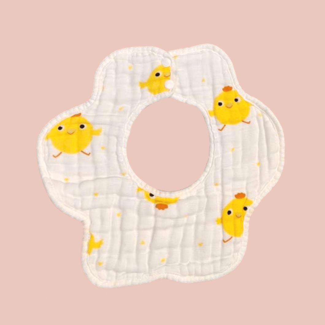 Chicky Round Bib - 8 Layer Double Sided - Organic Cotton Muslin