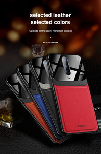 One Plus Phone Case PU Leather; Mirror; Plexiglass; Silicone Shockproof Bumper