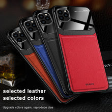 Load image into Gallery viewer, Luxury Leather Case For iPhone 11 & 12 Pro Max Mirror Glass Silicone