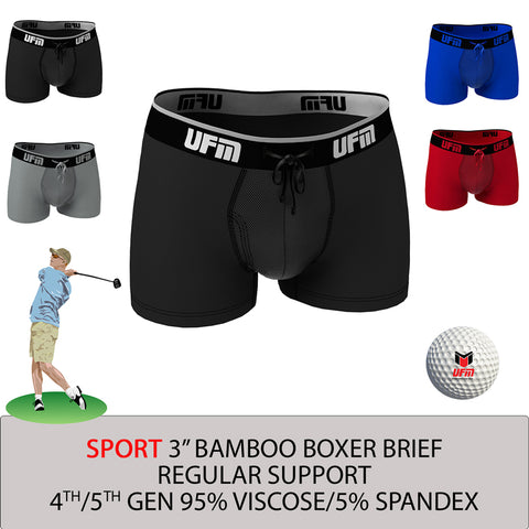 Parent UFM Underwear for Men Sport Bamboo 3 inch Trunk Multi 800