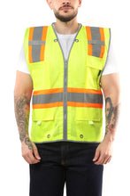 Load image into Gallery viewer, KV03 - Kolossus Pro Deluxe High Visibility Vest with Multi Frontal Pockets | ANSI Class 2 Compliant