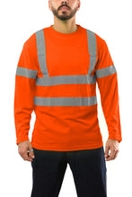 Carregar imagem no visualizador da galeria, KS07 - Kolossus AirFlex ANSI Class 3 Compliant High Visibility Long Sleeve Safety Shirt - Orange
