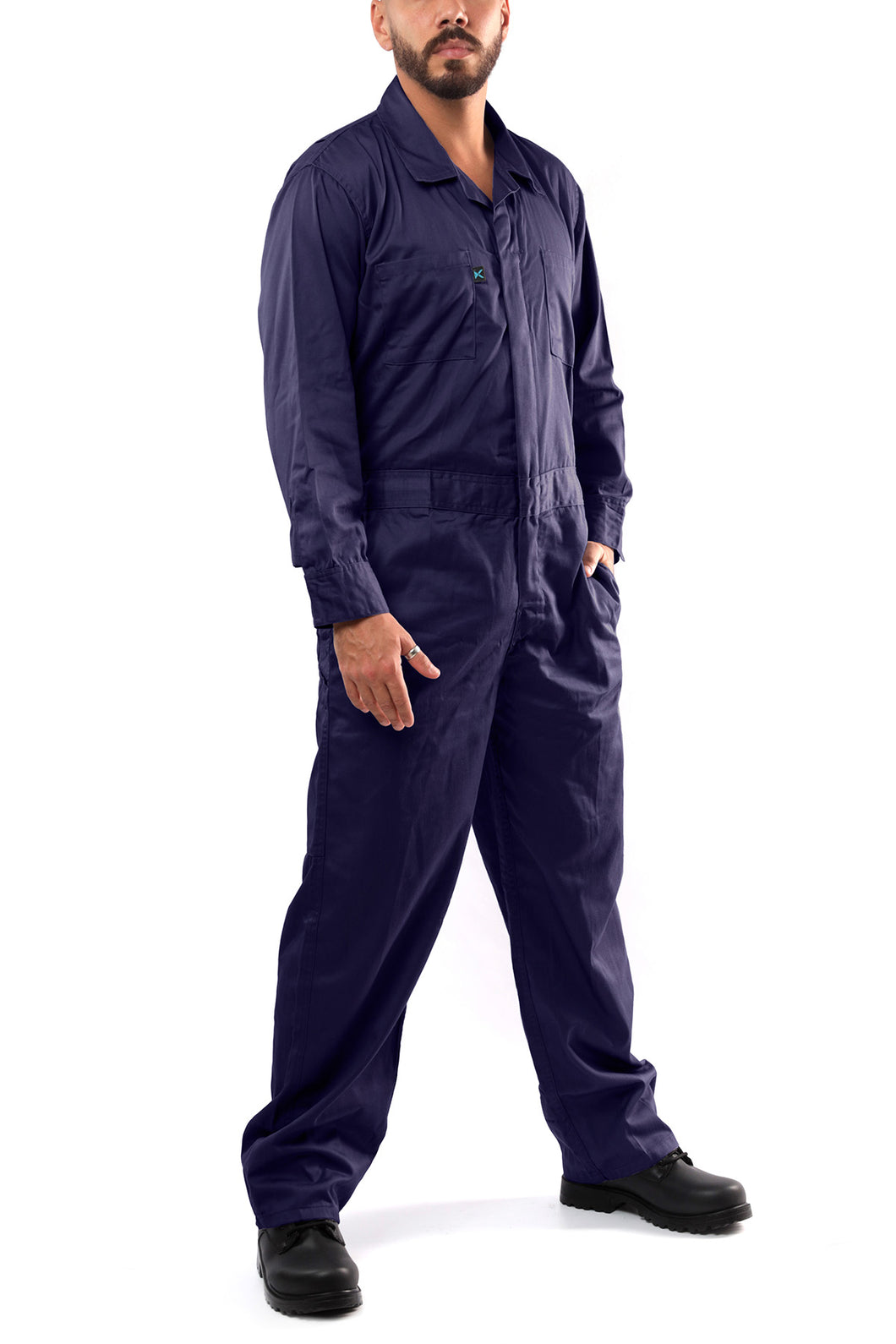 KC03 - Kolossus Deluxe Long Sleeve Cotton Blend Coverall with Multi Pockets and Antistatic Zipper