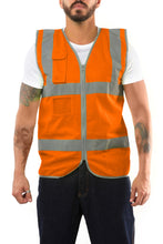 Load image into Gallery viewer, KV01 - Kolossus Premium Hi-Vis Safety Vest | Frontal Pockets | Cool Dry Mesh Back | ANSI Class 2