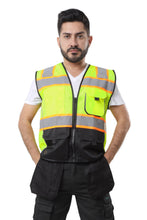 Carregar imagem no visualizador da galeria, KV02 - Kolossus Deluxe High Visibility Vest with Multi Frontal Pockets | ANSI Class 2 Compliant