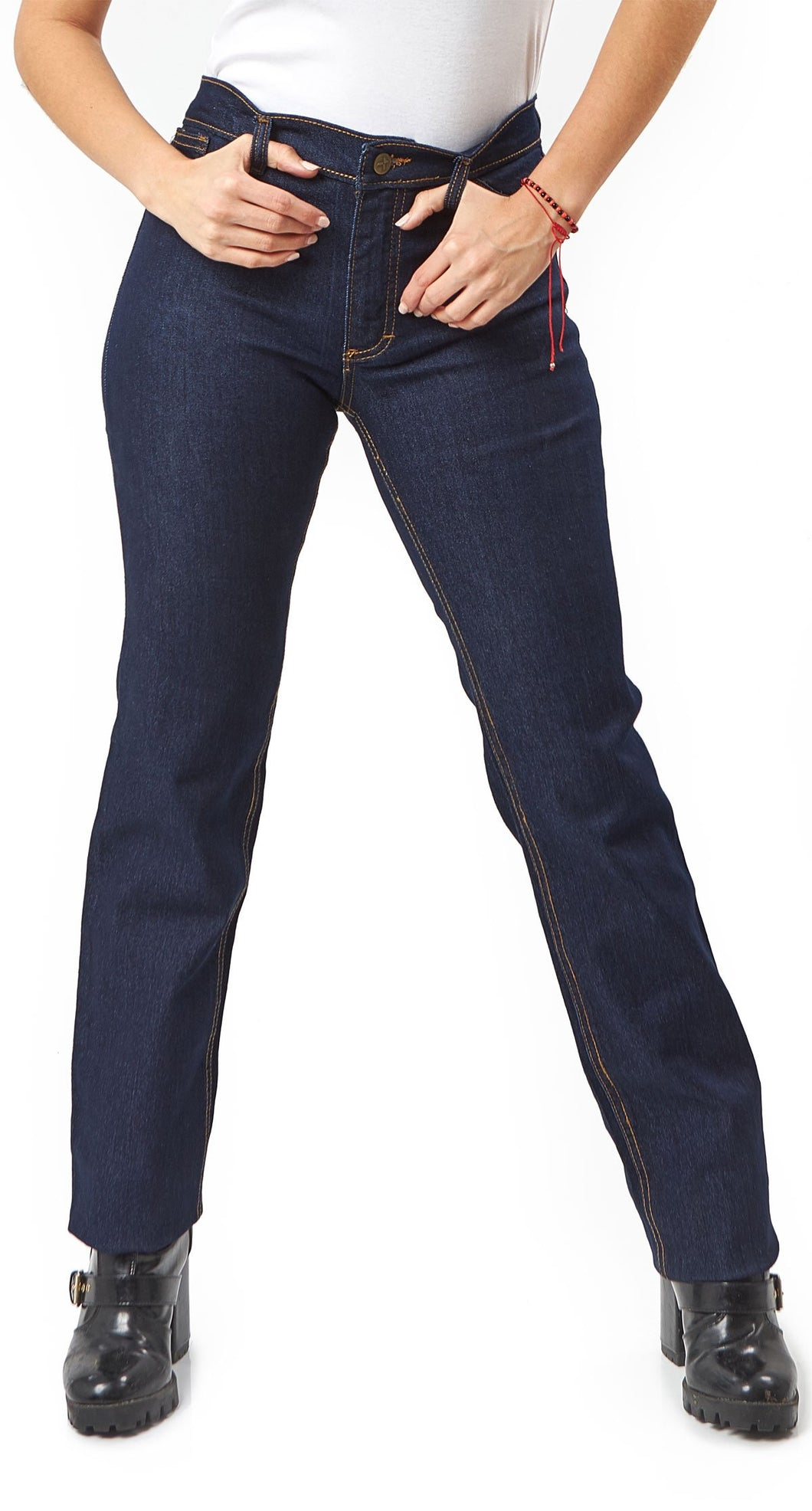 KJ51 - Kolossus Women Cotton Blend Super Stretch Work Jeans with Triple Seams