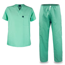 Load image into Gallery viewer, Kolossus mens medical scrub set green