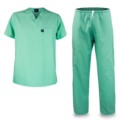 Kolossus mens medical scrub set green