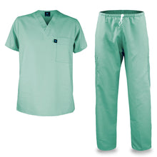 Load image into Gallery viewer, Kolossus mens medical scrub set light green