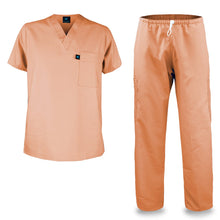 Load image into Gallery viewer, Kolossus mens medical scrub set orange