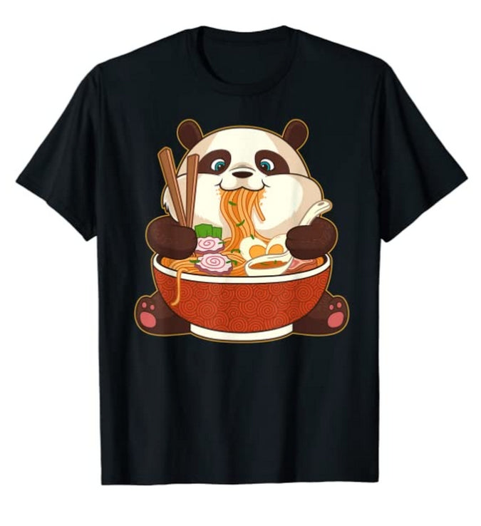 Cute Japanese Panda Anime T-Shirt