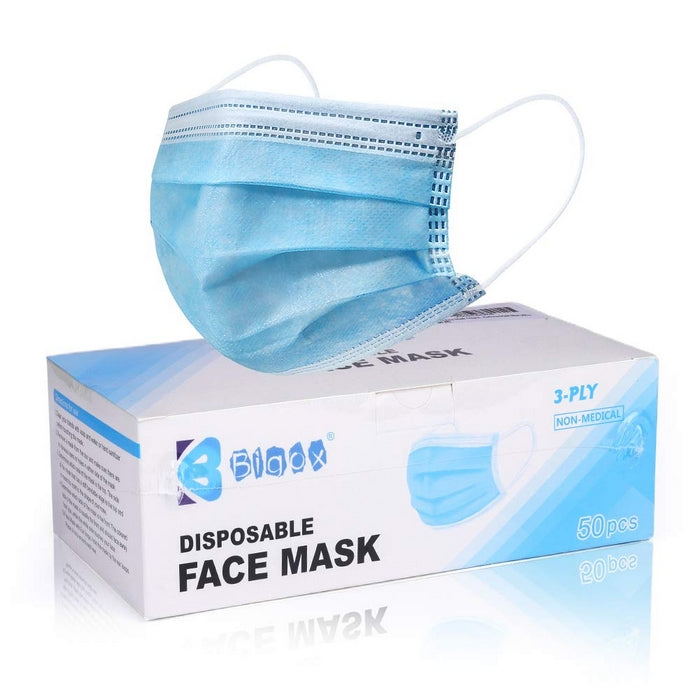 Edmonds Mall - Disposable Blue Earloop Face Mask 50 Count