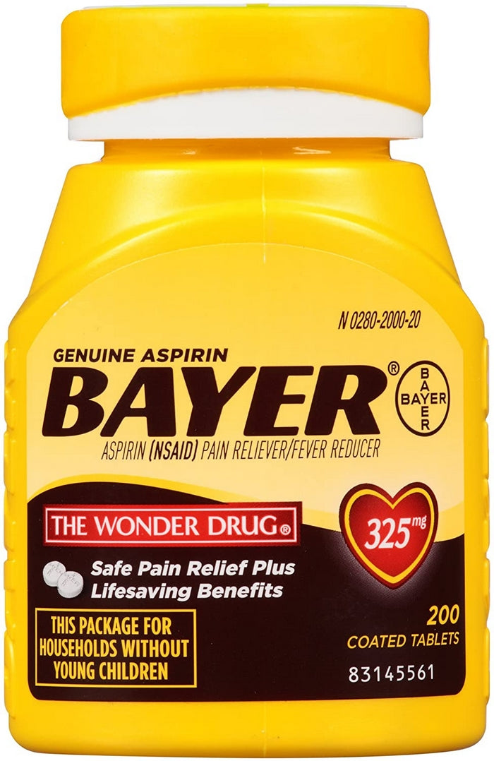 Edmonds Mall - Genuine Bayer Aspirin Pain Reliever and Fever Reducer 325mg Coated Tablets