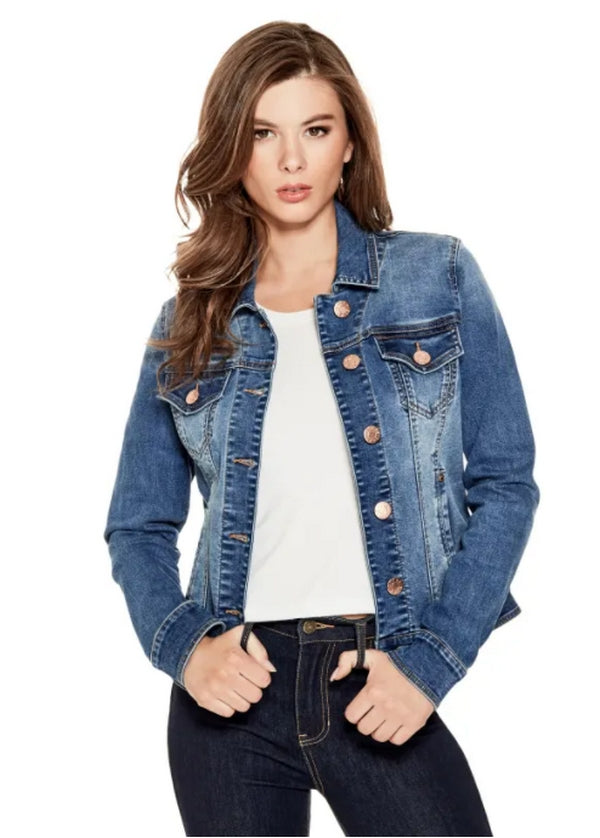 Edmonds Mall - GUESS Factory Alisana Basic Button Denim Jacket