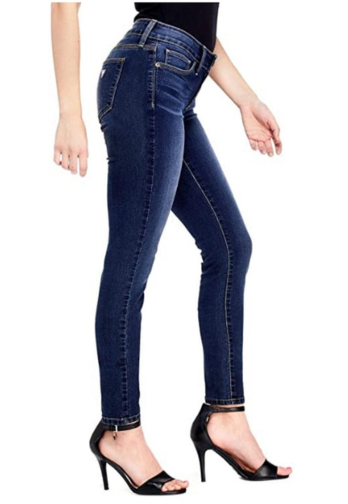 GUESS Factory Women's Sienna Curvy Mid-Rise Denim Skinny Jeans