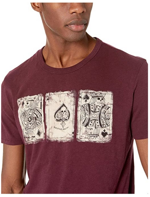 Lucky Brand Mens Poker Cards T-Shirt