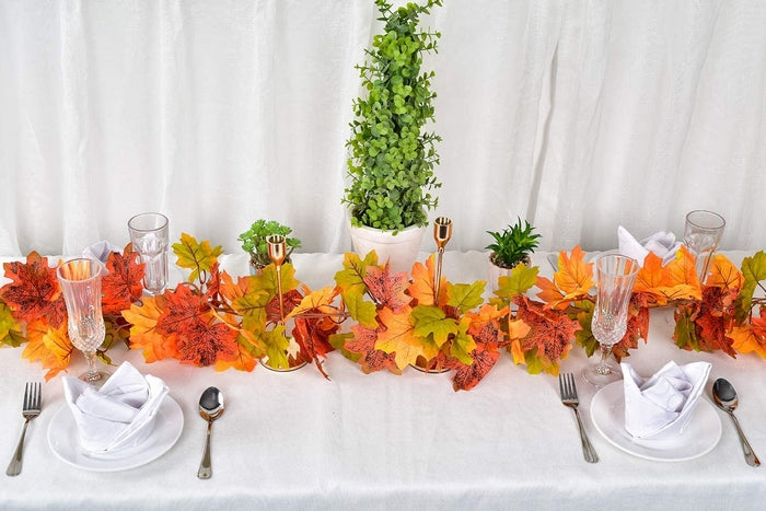 Maple Leaves Colorful Fall Garland Strand Decoration