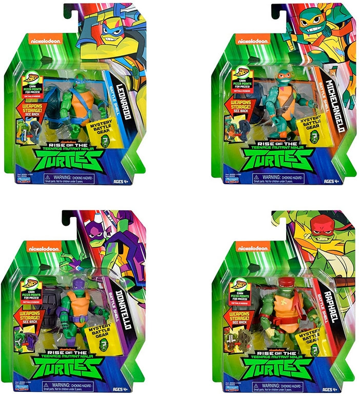 Rise of the Teenage Mutant Ninja Turtle Action Figure 4 Pack