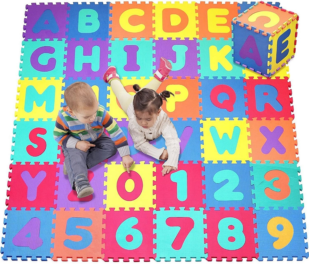Alphabet and Numbers Foam Puzzle Play Mat | Edmonds Toys