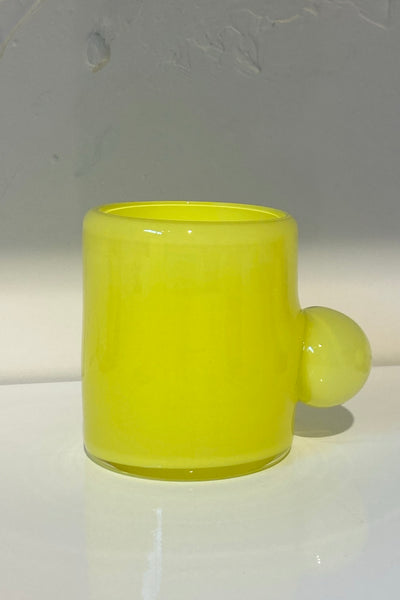 Sticky Glass Bubble Tumbler - Yellow