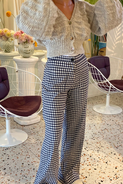 Charlie pants - Navy gingham