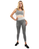 Isalda Seamless Leggings & Sports Bra Set - Grey