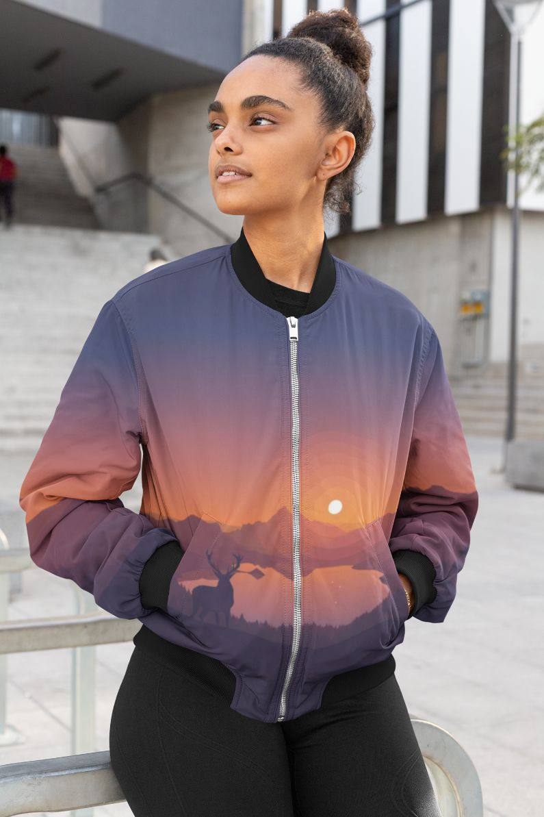 Magical Evening Female Bomber Jacket