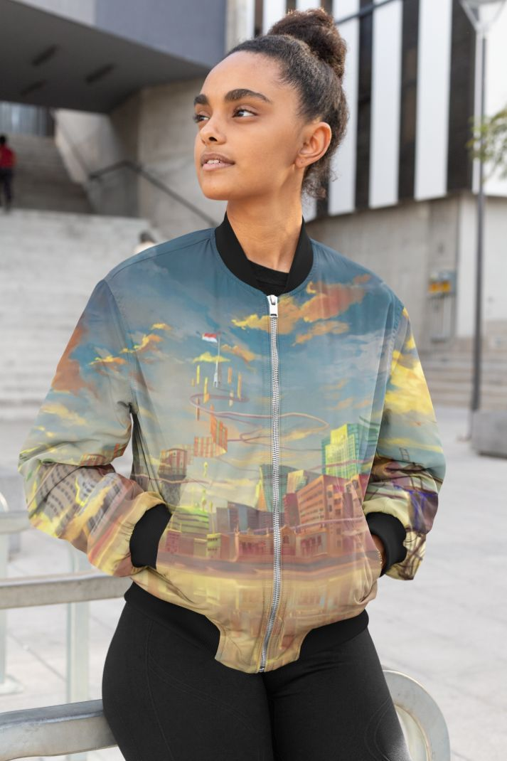 Thread Nature Female Bomber Jacket