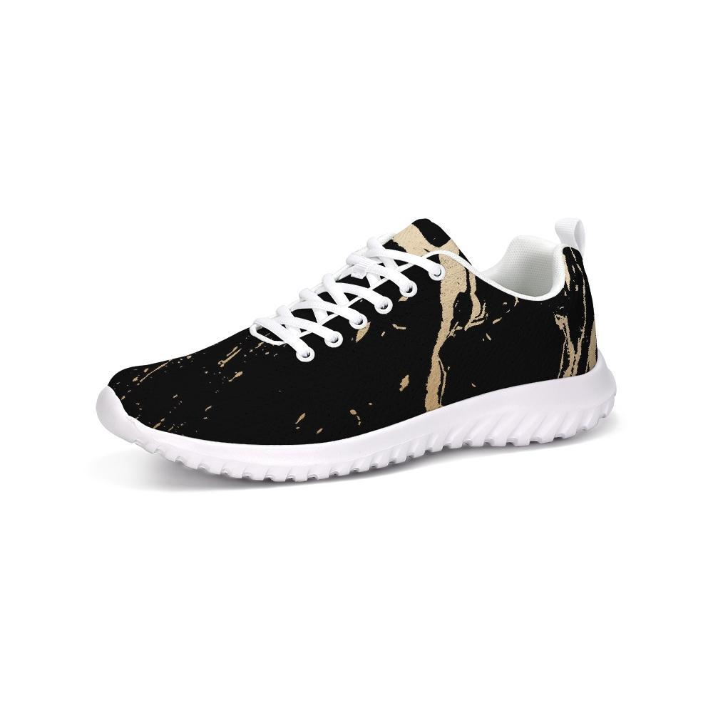 Athletic Running Shoes Golden Swirl Style Fashion Sneakers