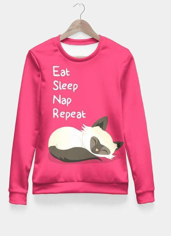 Cat's Life All Over Sweat Shirt Women