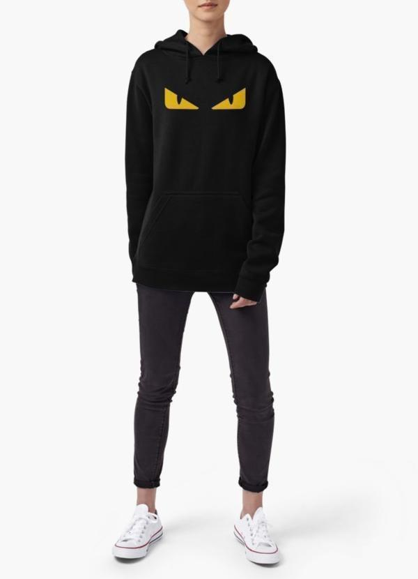 Fendi monster eye WOMEN HOODIE BLACK