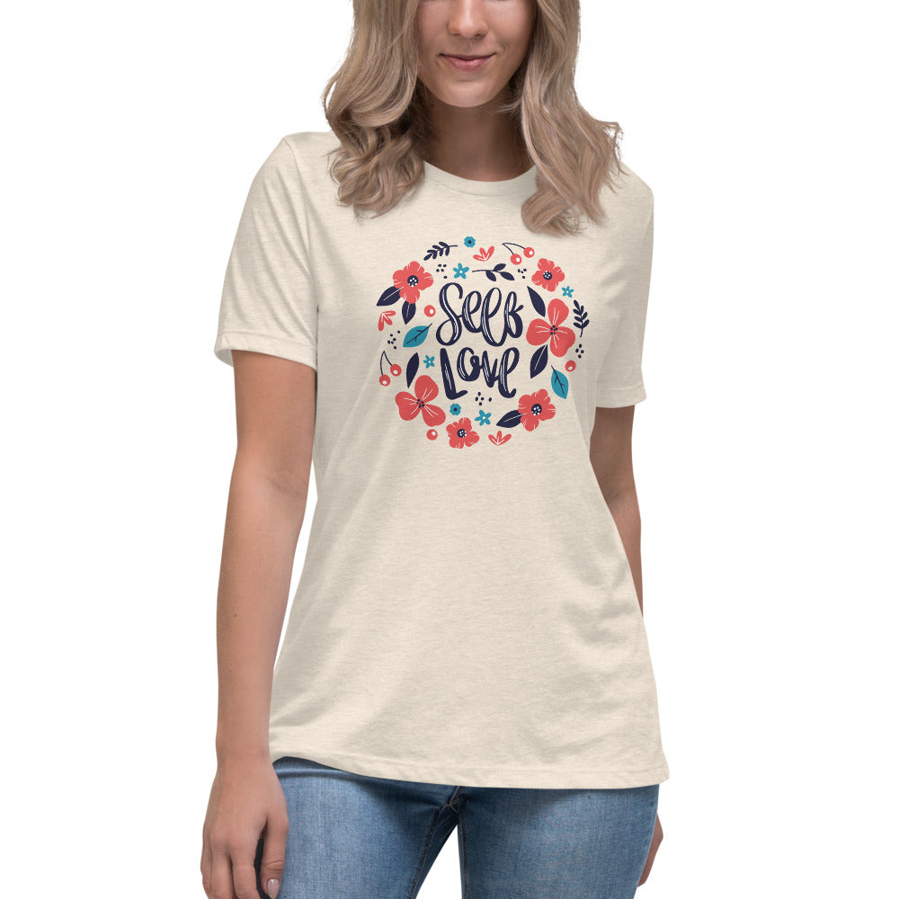 LOVE YOURSELF -Women's Relaxed T-Shirt
